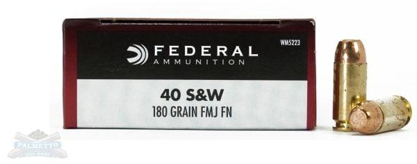 Federal 40 S&W 180gr FMJ Champion Ammunition 50rds - WM5223