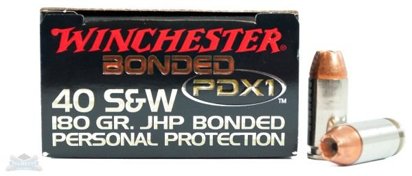Winchester 40 S&W 180gr PDX1 Pistol Ammunition 20rds - S40SWPDB1