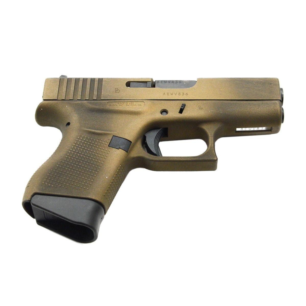 Glock 43 9mm Pistol, Battleworn Burnt Bronze