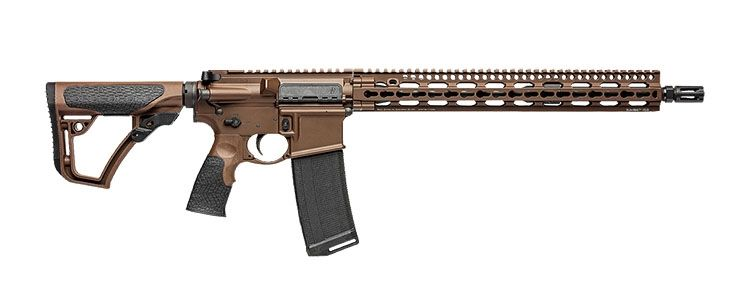 "Daniel Defense M4V11 5.56 NATO 16"" Mid-Length Rifle, Brown Cerakote"