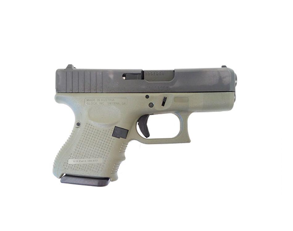 Glock 26 Gen 4 9mm Pistol, (Battlefield Green) Left Side