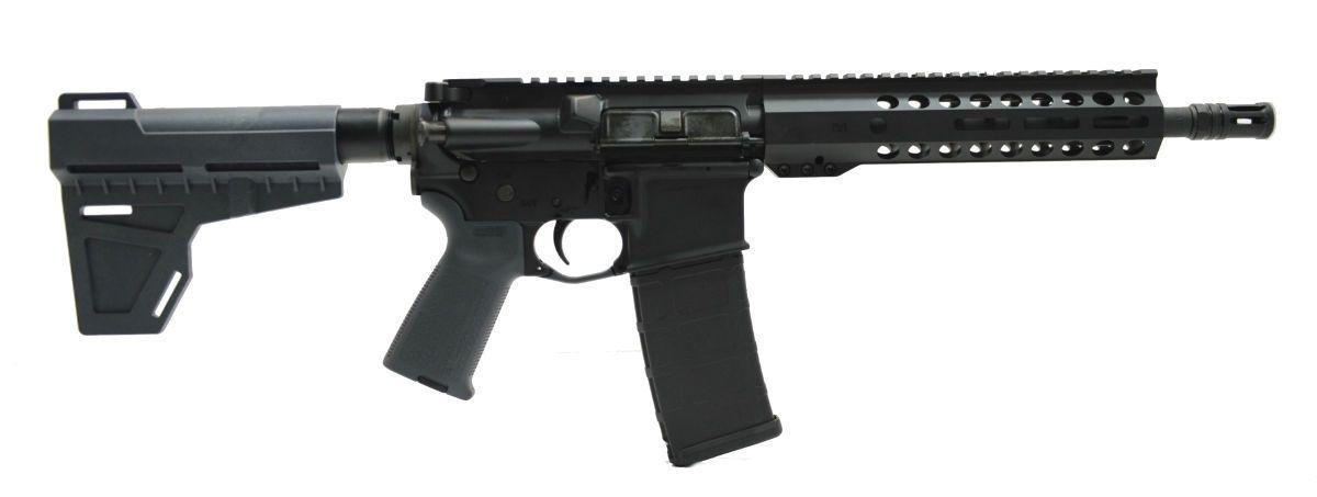 "PSA 10.5"" Carbine-Length 5.56 NATO 1/7 Phosphate M-Lok MOE Shockwave Pistol, Gray - 516447251"