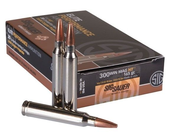 Sig Sauer .300 Win Mag 165 Grain Elite Copper Hunting Rifle Ammunition