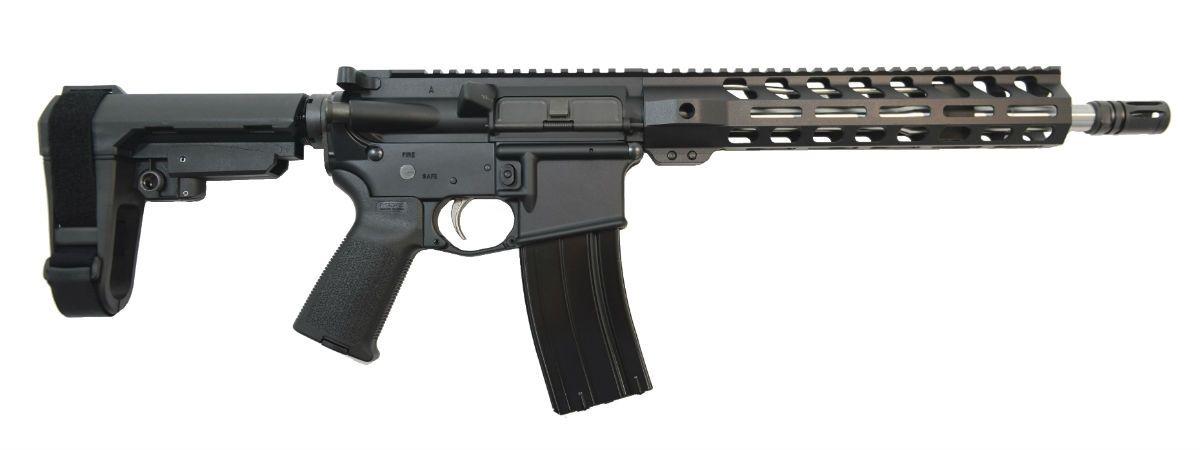 full view of carbine length pistol