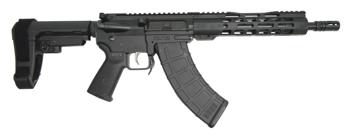 "PSA Gen2 KS-47 10.5"" Carbine-Length 7.62x39 Nitride 9"" Lightweight M-Lok MOE EPT SBA3 Pistol - 5165450182"
