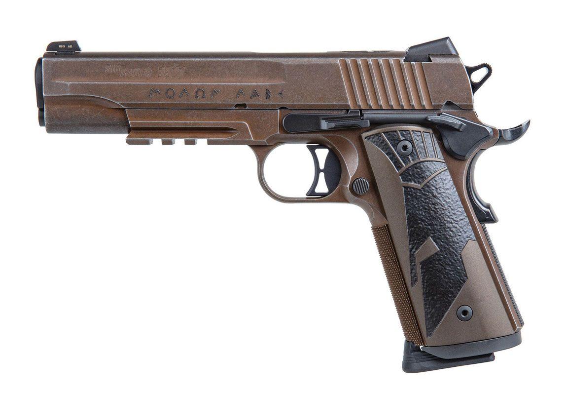 Sig Sauer Spartan II 1911 .45 ACP Pistol, Distressed Coyote - 1911CAR-45-SPARTANII