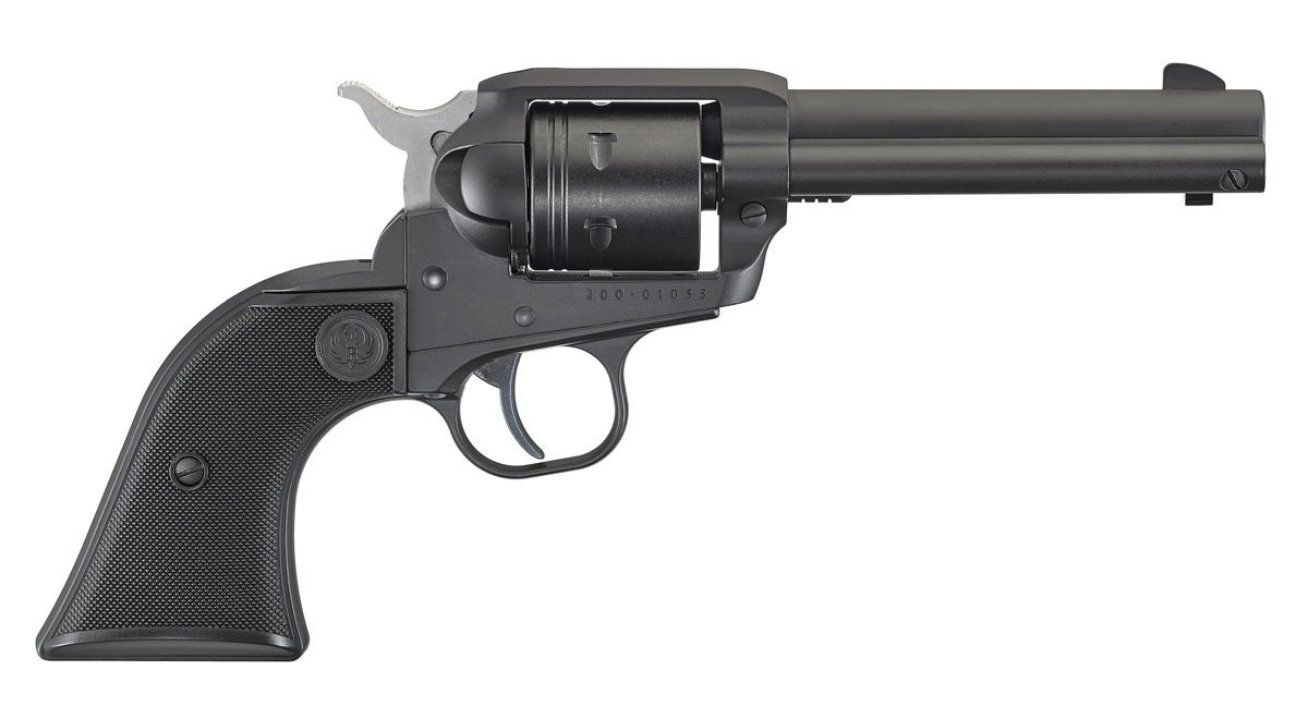 """Ruger Wrangler .22 LR 6-Shot 4.62"""" Revolver, Black Cerakote - 2002"""
