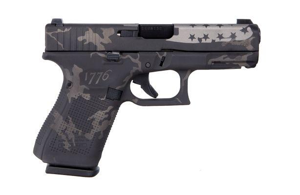Glock G19 Gen 5 USA 1776 9mm Pistol, Black & Grey Camo
