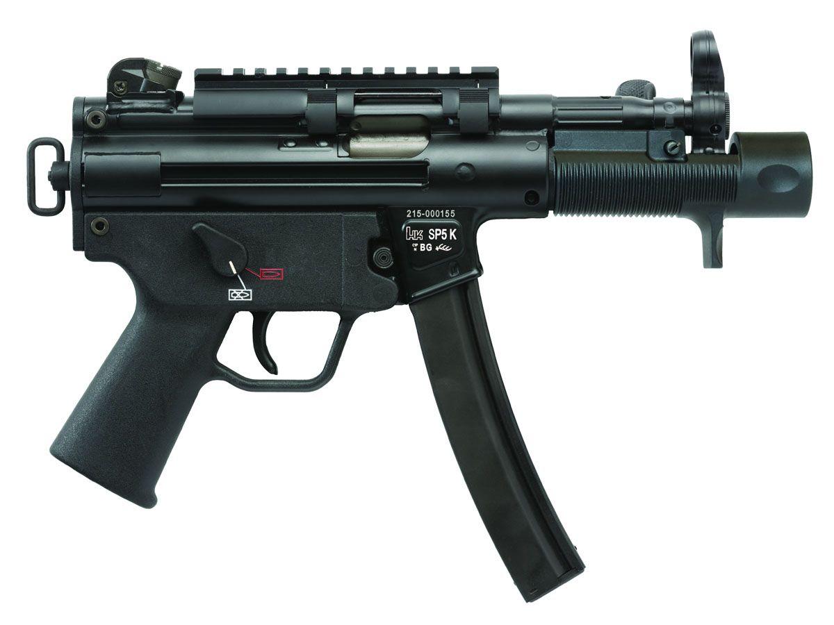 HK 9mm SP5K Pistol, Black - M750900-A5
