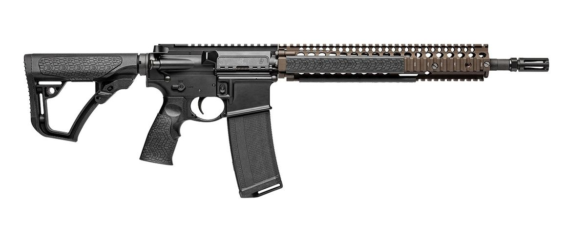 "Daniel Defense DDM4A1 5.56x45mm 14.5"" Rifle, FDE/Black - 02-088-06027-011"