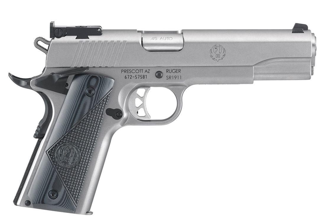 """Ruger SR1911 Target 9mm 5"""" SS Pistol - 6759"""