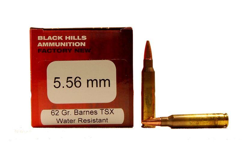 Black Hills 5.56mm 62gr Barnes TSX Ammunition 50rds - D556N18