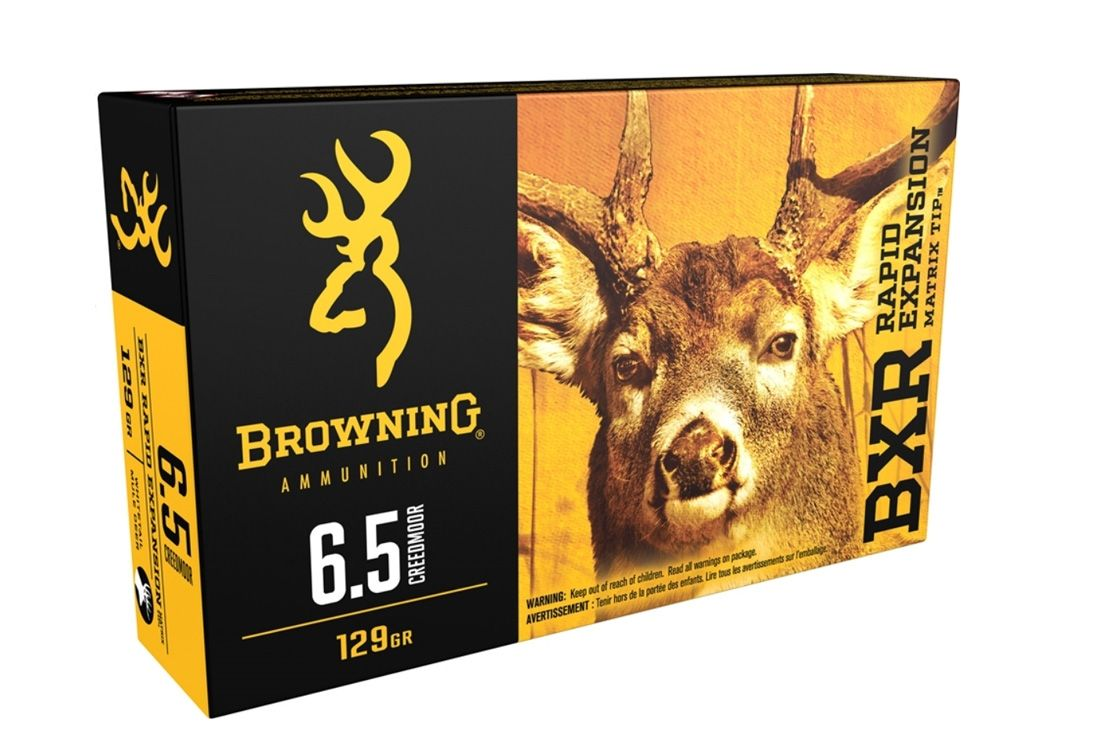 Browning 6.5 Creedmoor 129gr BXR 20rds - B192100651