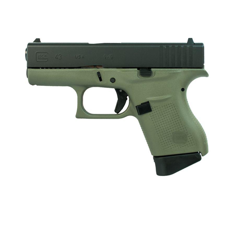 Glock 43 9mm Pistol, Battlefield Green - UI4350201BFG