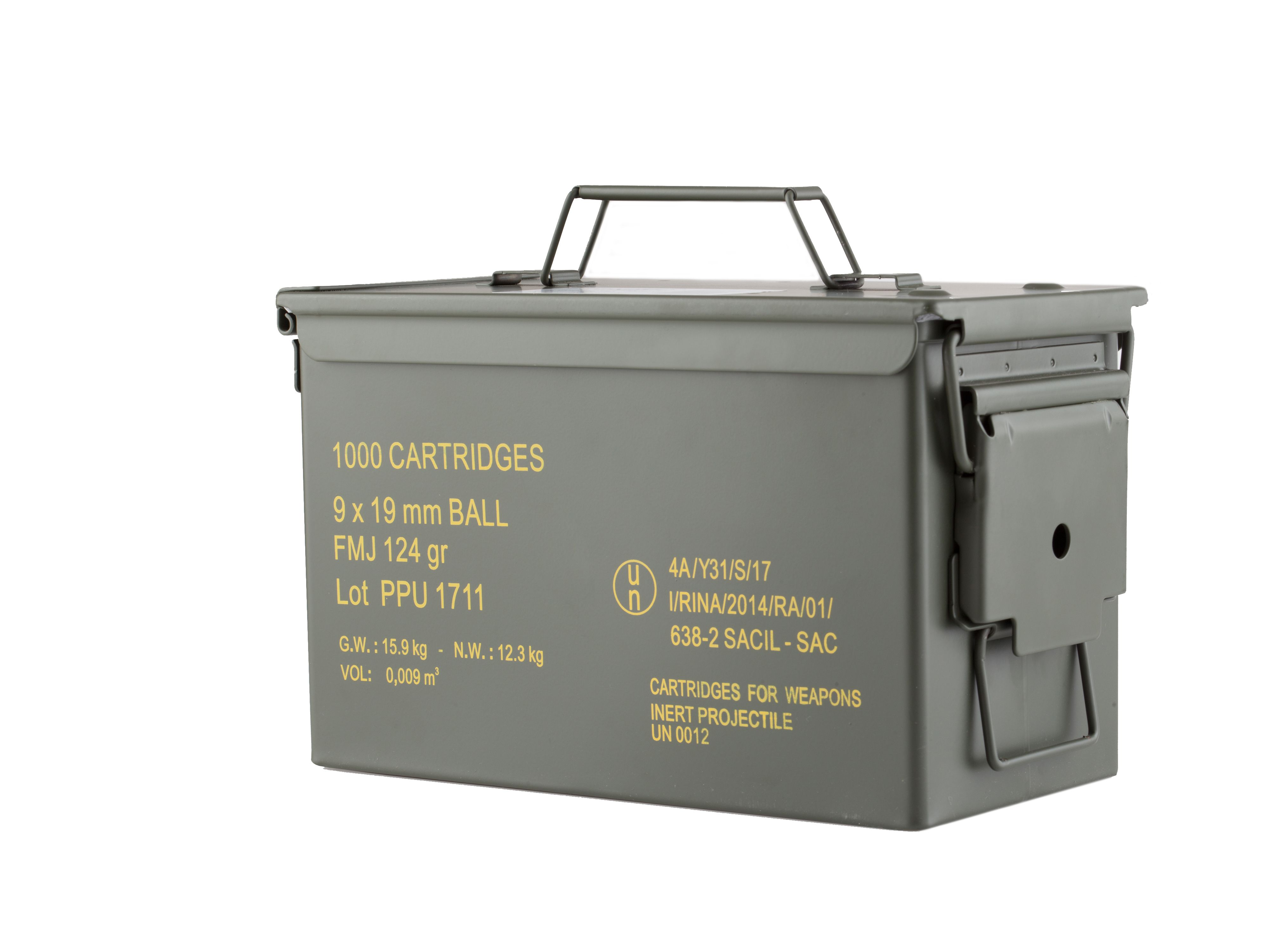 Prvi Partizan 9mm FMJ 124 gr 1000 Round Ammo Can