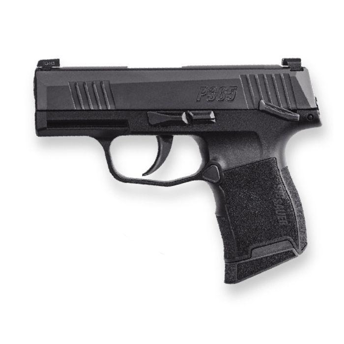 "Sig Sauer P365 9mm 3.1"" Manual Safety Pistol, Black - 365-9-BXR3-MS"