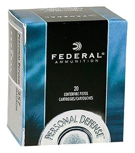 Federal 45 Auto/ACP 230gr JHP Personal Defense Ammunition 20rds - C45D