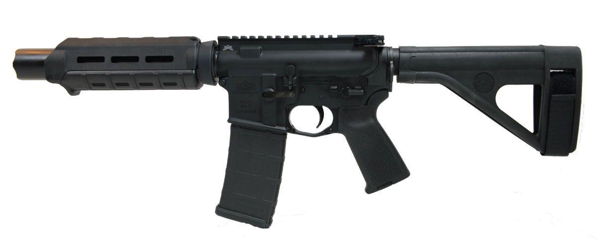 """PSA 7"""" 5.56 NATO 1:7 Nitride MOE """"Marauder"""" SOB Pistol"""