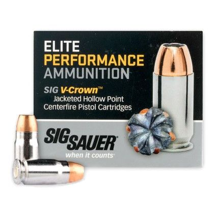 Sig Sauer 357 SIG 125GR V-Crown JHP Ammunition, 50 rounds - E357S1-50