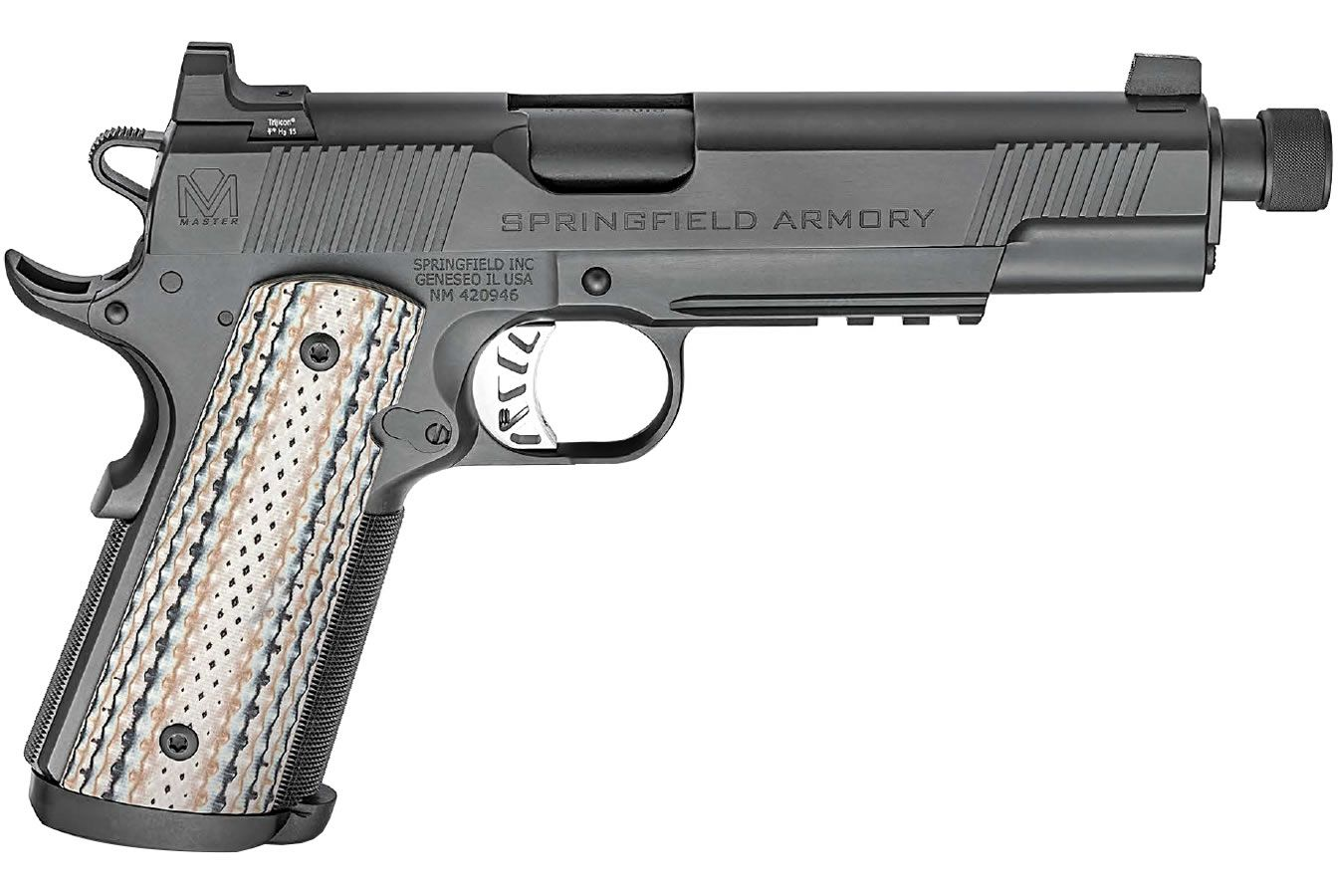 Springfield Armory Master Class Silent Operator 1911 Right Side View