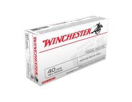 Winchester USA 40 S&W 180gr JHP Ammunition, 50 Round Box - USA40JHP