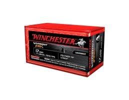 Winchester Varmint LF 17 HMR Ammo 15.5 Gr JHP, 50 Rd/Box - S17HMR1LF
