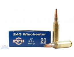 PRVI Partizan 243 100gr SP Ammunition 20rds - PP2.51