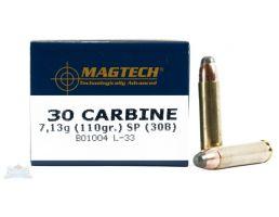 Magtech 30 Carbine 110gr SP Ammunition 50rds - 30B