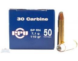 PRVI Partizan 30 Carbine 110 GR Ammunition 50rds - PP3.1