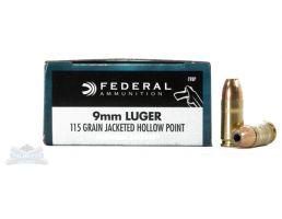 Federal 9mm 115gr JHP Personal Defense Ammunition 20rds - C9BP