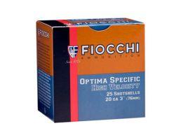 """Fiocchi 20ga 2.75"""" 1oz #8 High Velocity Shotshell Ammunition, 25 Round Box - 20HV8"""