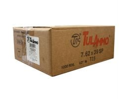 Tula 7.62x39mm 124gr SP Steel Cased Ammunition 1000rds - UL076260-CASE