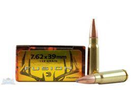 7.62x39mm Ammo Federal 7.62x39 Soviet 123 Grain Fusion Ammunition 20rds - F76239FS1