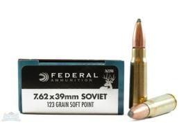Federal 7.62x39mm 123gr SP RN Power-Shok Ammunition - 76239B
