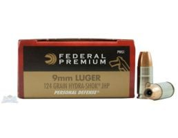 Federal 9mm 124gr Hydra-Shok Ammunition 20rds - P9HS1