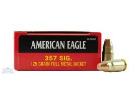 American Eagle 357 Sig 125gr FMJ Ammunition 50rds - AE357S2