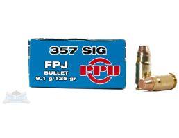 PRVI Partizan 357 Sig 125gr FPJ Ammunition 50rds - PP-R3.4