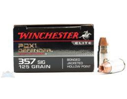Winchester 357 Sig 125gr PDX1 Defender Ammunition 20 rds - S357SPDB