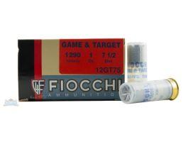 """Fiocchi 12ga 2.75"""" 1oz #7.5 Game Load Ammunition 25rds - 12GT75"""