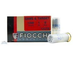 """Fiocchi 12ga 2.75"""" 1oz #8 Game Load Shotshell Ammunition 25rds - 12GT8"""