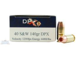 Cor-Bon 40 S&W 140gr DPX Ammunition 20rds - DPX40140/20