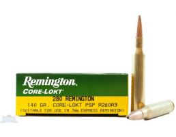 Remington 280 140gr Core-Lokt PSP Ammunition 20rds - R280R3