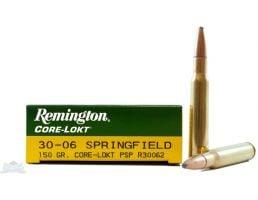 Remington 30-06 150gr Core-Lokt PSP Ammunition 20rds - R30062
