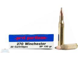 PRVI Partizan 270 Winchester 150gr SP Ammunition 20rds - PP2.62