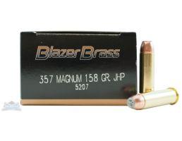 CCI Blazer Brass 357 Magnum 158gr JHP Ammunition 50rds - 5207