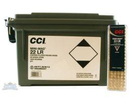 CCI 22 Long Rifle 40gr CPRN Mini Mag 1600rd Plastic Ammo Can - 977