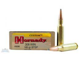Hornady 308 Win 165gr BTSP Custom Ammunition 20rds - 8098