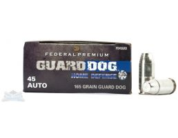 Federal 45 Auto/ACP+P 165gr EFMJ Guard Dog Ammunition 20rds - PD45GRD
