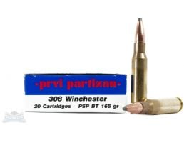 PRVI Partizan 308 Winchester 165gr PSP BT Ammunition 20rds - PP3.26