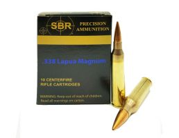 SBR .338 Lapua Mag 300 gr Sierra MatchKing 10 Rounds Ammunition - MC338LM1